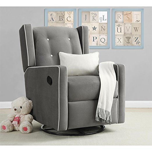 Best Chairs For Your Baby Nursery - Baby Relax Mikayla Swivel Glider Recliner